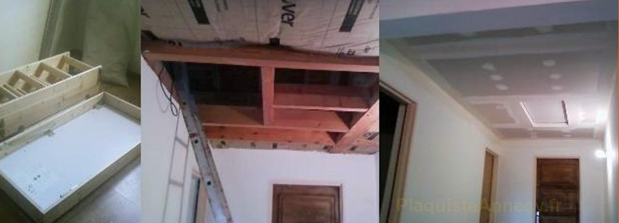 Installation faux plafond droit avec pose chelle escamotable for Installer faux plafond