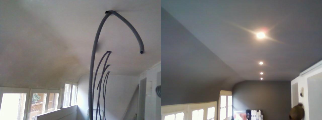 faux plafond avec spots encastrés
